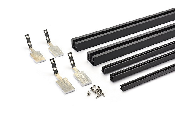 """Picture of 36"""" Mesh Rail Vertical Cut Kit - Stairs"""