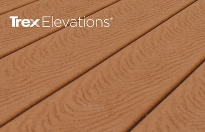 Trex Elevations steel deck framing provides flat and stable composite decking