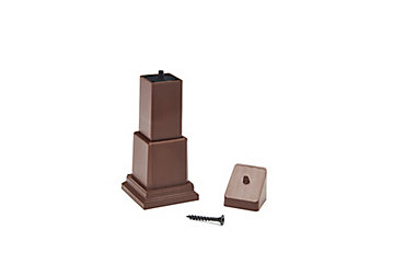 Picture of Trex® Adjustable Footblocks for Composite Railing in Fire Pit
