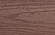 Swatch of Trex Transcend composite Fascia in Fire Pit red