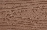 Swatch of Trex Transcend Fascia in medium brown Tree House