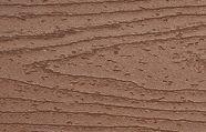Swatch of Trex Transcend Fascia in medium brown Tree House