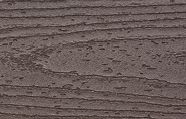 A color swatch of Trex Transcend dark brown vintage lantern composite deck board
