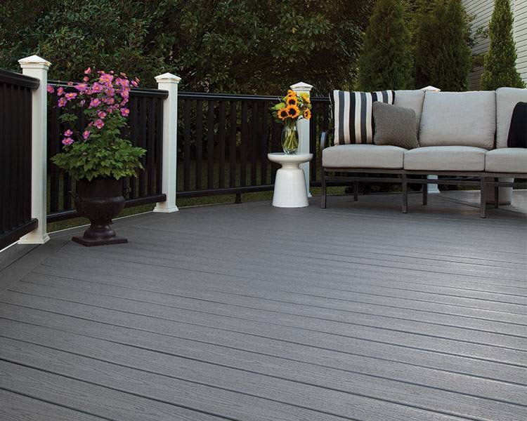 Clam Shell Is An Easy To Match Shade Of Medium Grey Featuring A Low Maintenance Wood Like Grain Pattern