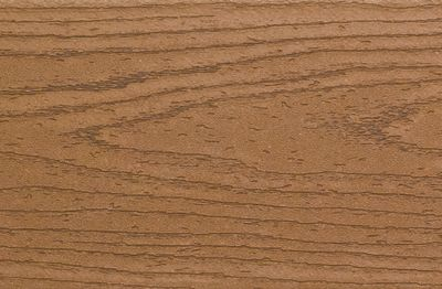 Swatch of Enhance composite decking in Beach Dune brown