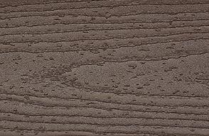 Muster von Trex Transcend Terrassendielen aus Verbundmaterial in Vintage Lantern/Dunkelbraun
