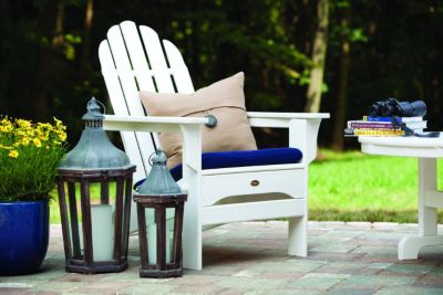 outdoor furniture white. Shop Trex Deck And Patio Furniture, Like This White Adirondack Chair. Outdoor Furniture