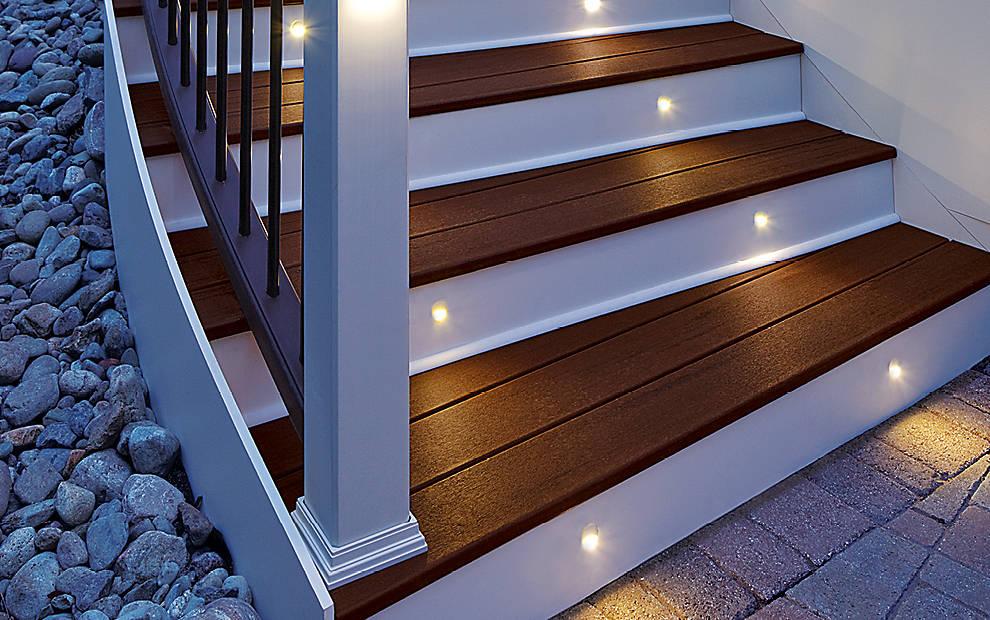 deck lighting post lights led step stair lights trex. Black Bedroom Furniture Sets. Home Design Ideas