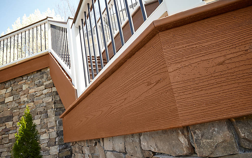 Trex fascia boards the finishing touches for any deck