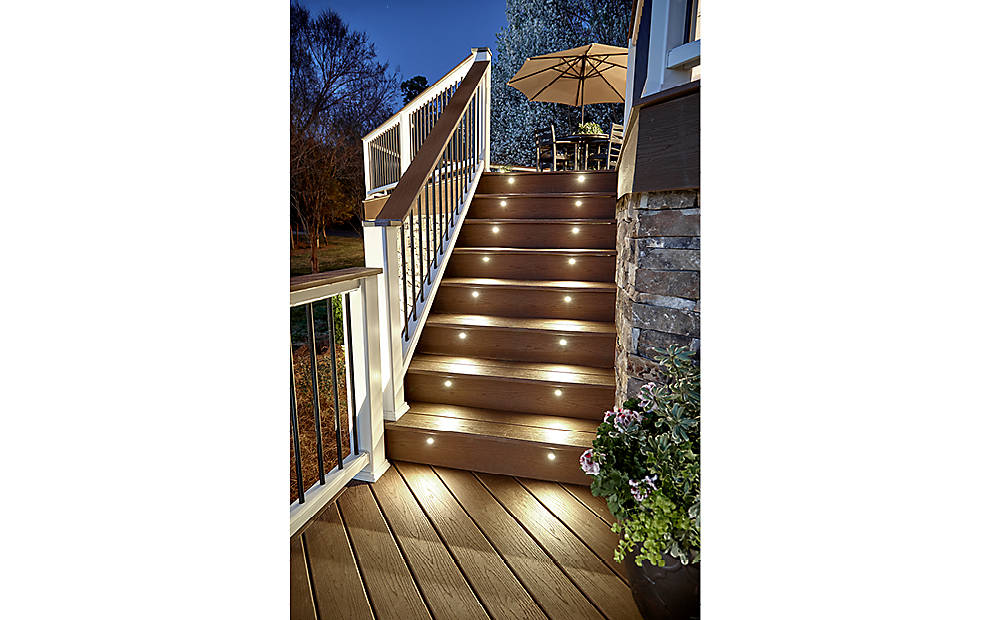 Deck lighting post lights led step stair lights trex send to a friend aloadofball Choice Image