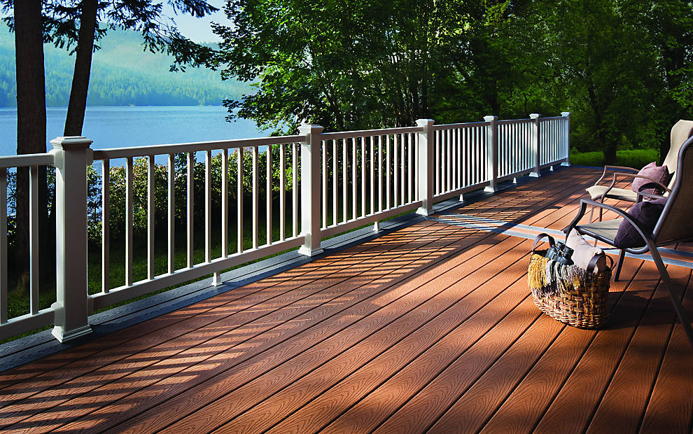 Trex select decking railing for decking composite for Redwood vs composite decking