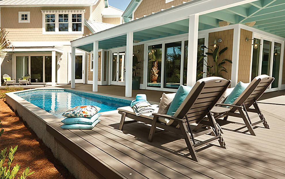 Pool Decks Above Ground Pool Deck Ideas Amp Pictures Trex