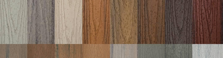 Trex Farbmuster für Terrassendielen
