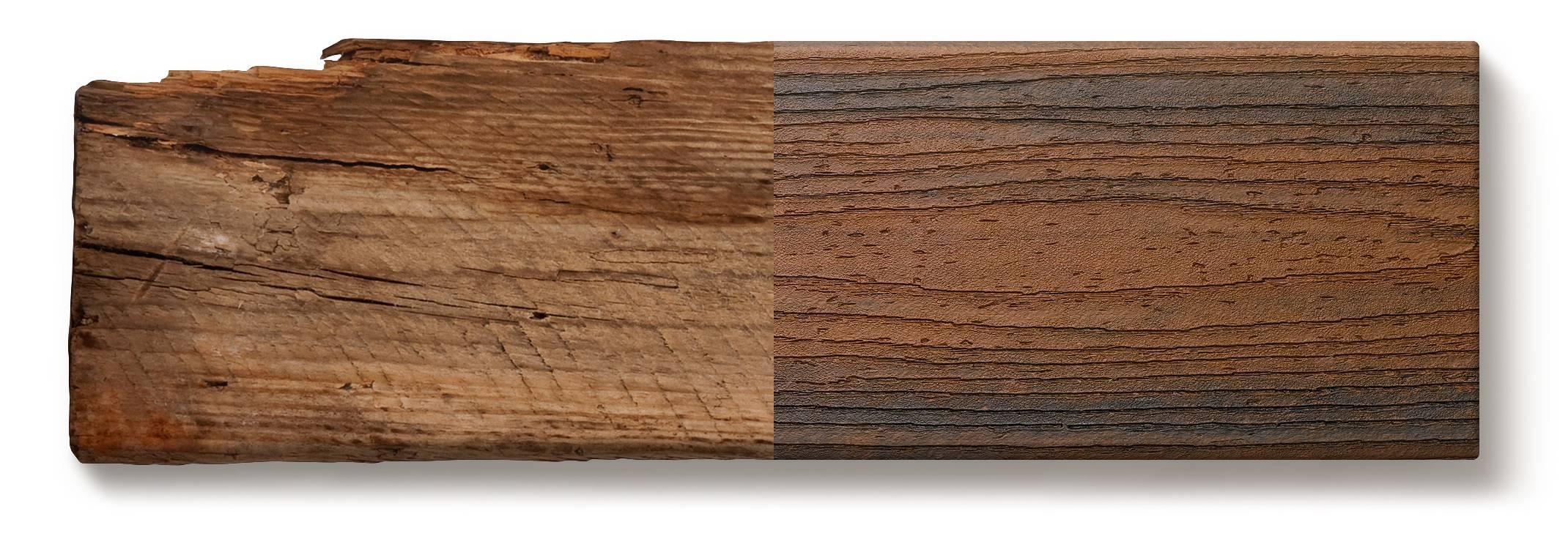 Ger Trex vs. Holz Vergleich Terrassendielen Transcend Spiced Rum-Verbundstoff