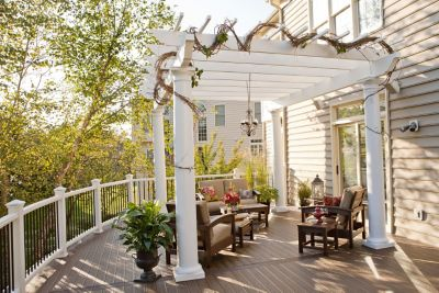 A Trex Pergola provides the perfect amount of shade and a style that will  enhance any - Deck Furniture, Pergolas And Outdoor Kitchens Trex