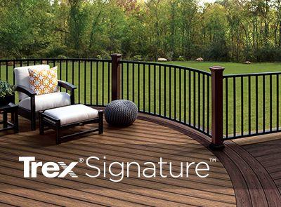 Deck railing systems composite outdoor deck railing trex for Garden decking handrails