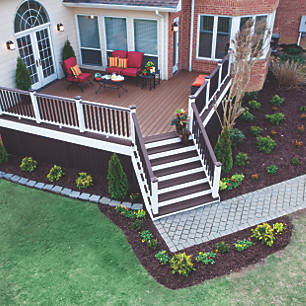 Interesting Corner Recreation With Deck With Patio Designs