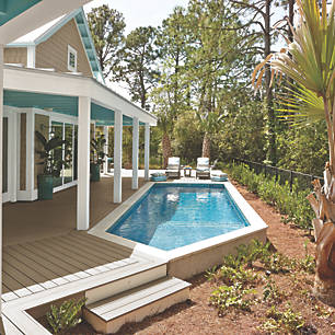 explore deck designs that include pools and hot tubs to see how your outdoor oasis could - Trex Deck Design Ideas