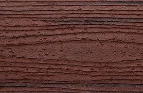 Swatch of Trex Transcend composite Fascia in Lava Rock red