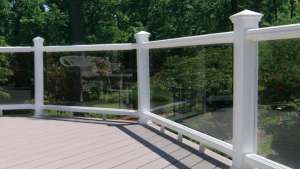 Trex Transcend glass railing
