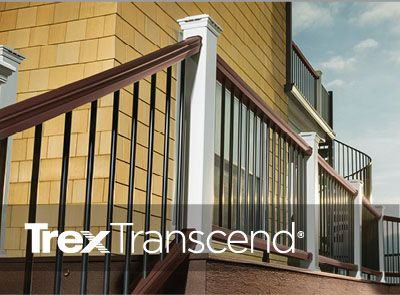 Mix And Match Trex Transcend Railing In Clic White Charcoal Black Vintage Lantern
