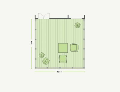 12 X Deck Design 144 Sq Ft