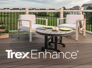 Ajoutez du piquant à tous vos espaces extérieurs grâce à nos terrasses en matériau composite Trex Enhance.