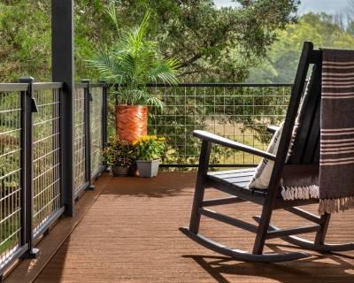 Trex Decking Saddle Select Timberlake Railing Mesh Rocking Chair
