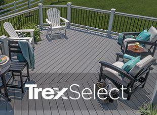 Notre gamme Select de rampes et produits de terrasse en matériau composite est abordable, elle a du style et elle propose la même fiabilité que toutes nos gammes de produits.