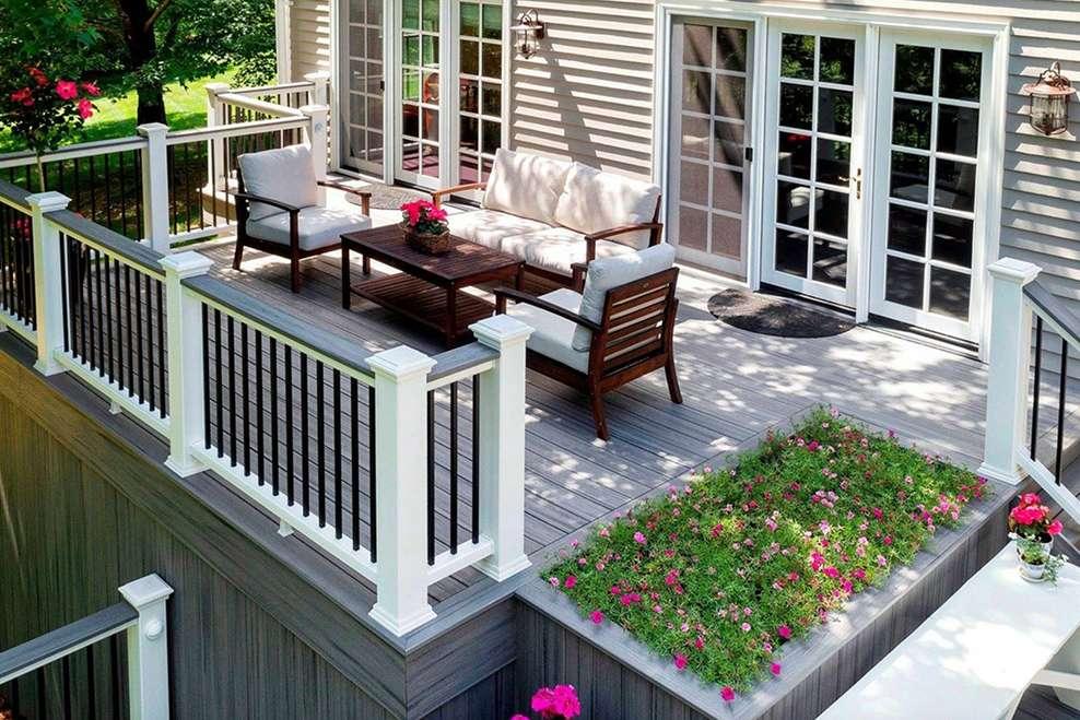 Top 4 Garden Decking Design Trends   Trex on Backyard Trex Deck Ideas id=62225