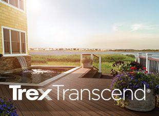 Vivez dans le luxe avec Trex Transcend, notre meilleure gamme de produits de terrasses et de rampes en matériau composite.