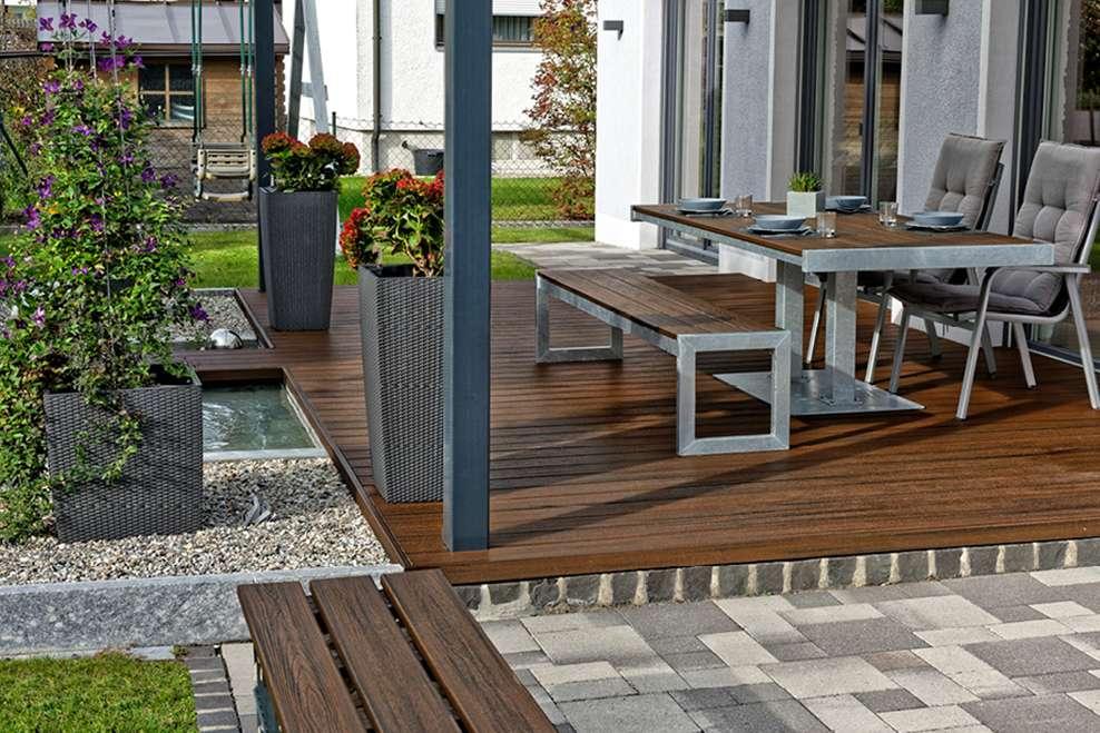 Garden Decking Ideas Designs For Small Spaces Trex