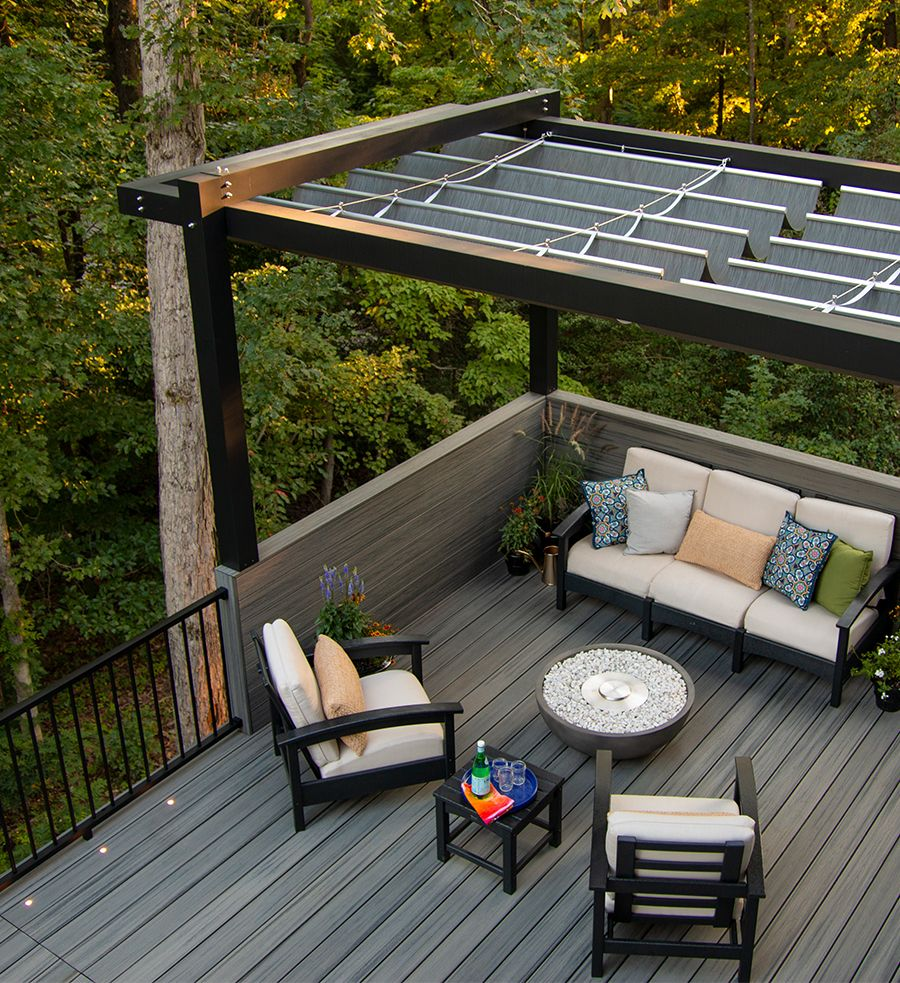 Trex Decking Transcend Tropicals Island Mist Pergola Furniture