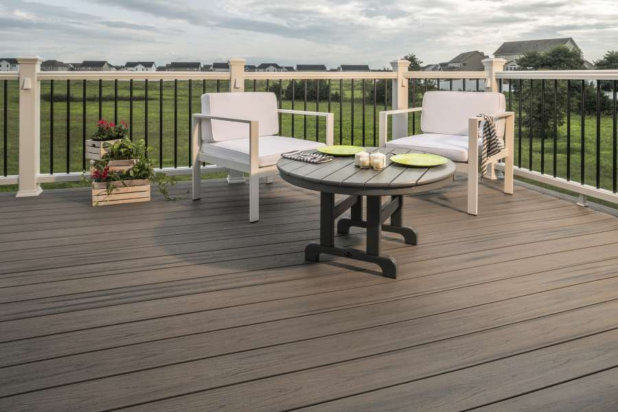 trex enhance decking naturals rocky harbor