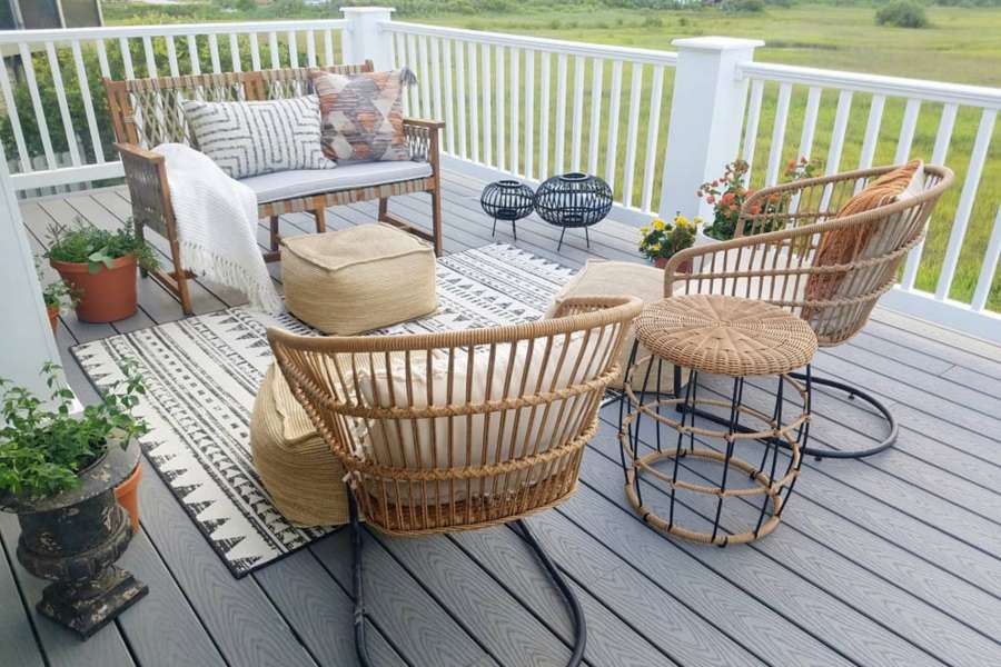 trex select decking pebble grey