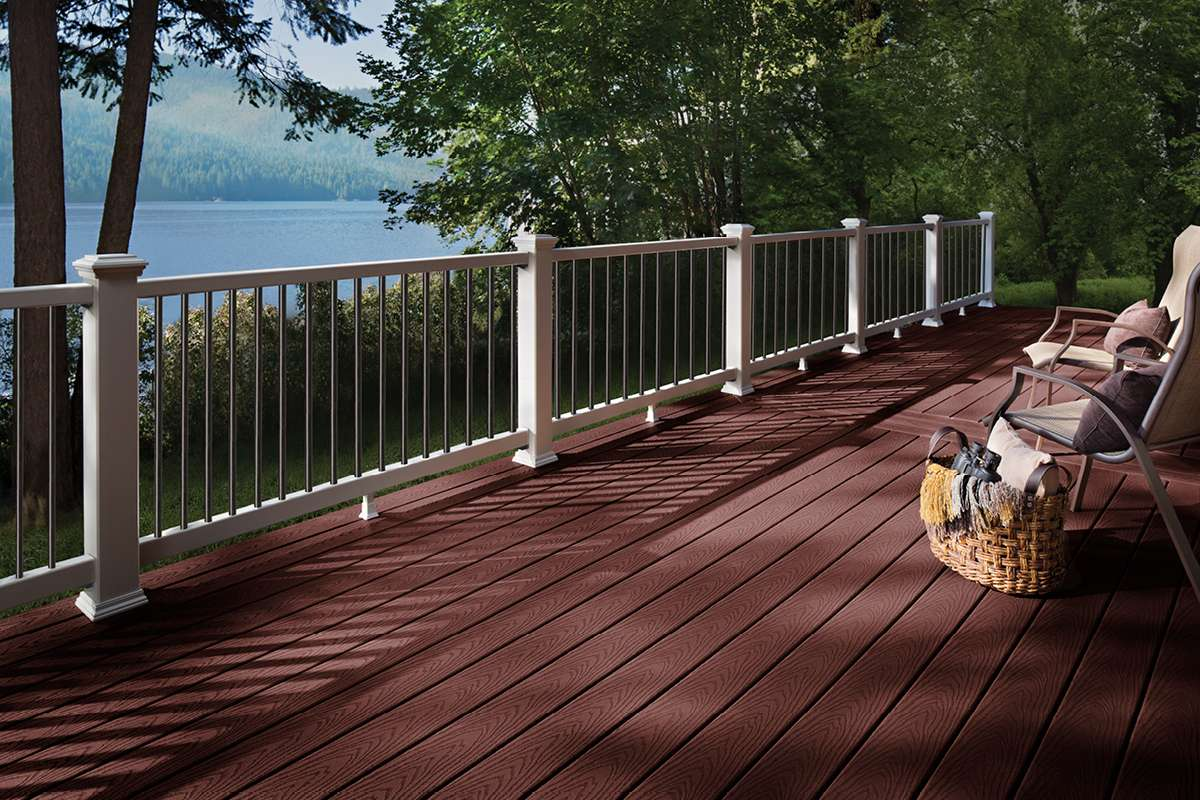 Trex Select Decking Railing Madeira Classic White Lake