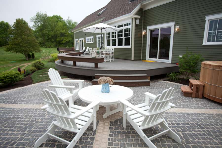 trex select decking winchester grey adirondack