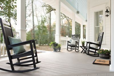 Trex Transcend Decking Gravel Path Porch Rocking Chair | Trex