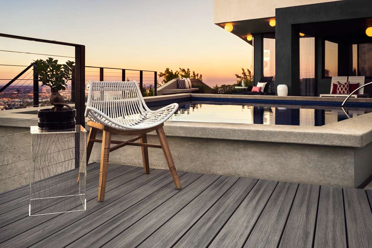 Trex Transcend Decking Island Mist Sunset Pool Trex
