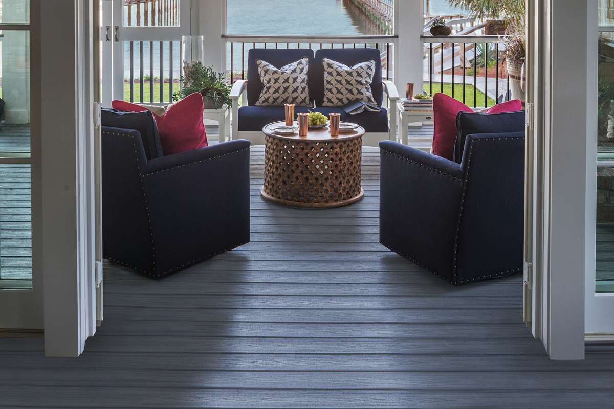 Trex Transcend Decking Railing Island Mist Cocktail Rail