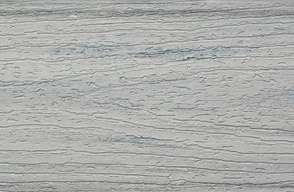 Swatch of Trex Enhance composite  Fascia in Foggy Wharf grey